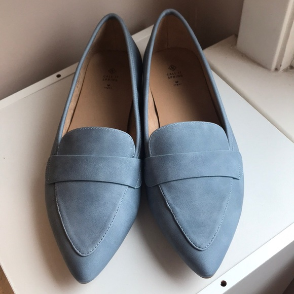 Call It Spring Blue Loafers